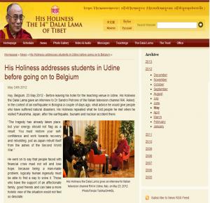 Clicca per l'intervista nel sito del Dalai Lama