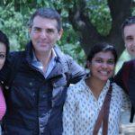 Il gruppo di produzione a Delhi, marzo 2013: la producer Naam, Sandro Petrone, l'assistente Smriti, Fabrizio Silani